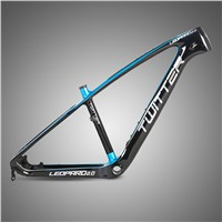 Direct Bike Factory China Accept Small Order 26''/27.5''TWITTER LEOPARD Carbon Racing Mountain Bike Frame