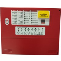 Fire Fighting Supression Panel Extinguishant Control Panel 4 Zones Fire Alarm Host