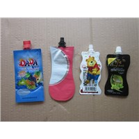 Juice Pastic Package Bag Standing Bag Packaging Pouch with Tube