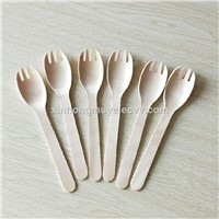Disposable Eco-Friendly Wooden Cutlery Set Wooden Knife Fork & Spoon