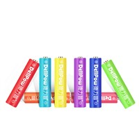 Delipow AAA Rechargeable Battery for Toy Mouse Keyboard Microphone Rainbow Colorful 8Pcs Rechargeable Batteries