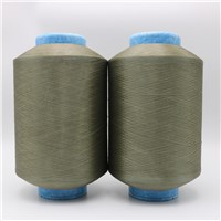 Copper Plated CuS Nylon 6 DTY Conductive Filaments 40D/12F Anti-Static Yarn for Anti Bacteria Textiles Fabrics XT11854