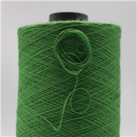 Green Nm26/2plies 7% Stainless Steel Fiber Blended with 93% Solid Acrylic Fiber for Knitting Touchscreen Gloves XT11024