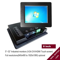 8 Inch Industrial Panel Touch Screen Monitor LCD DVI VGA Idm-08