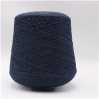 Dark Blue 0.035 Micron Stainless Steel Fine Wire Twist with Ne32/2ply Combed Cotton Yarn for Touchscreen Glove--XT11105
