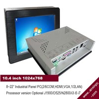 Panel PC with 10.4 Inch LCD Touch Screen for Industrial Equipment