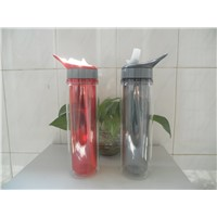 Double Wall Insulated Gel Plastic Water Bottle with Ice Tube