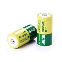 Delipow 2000mAh Type C Rechargeable Battery for Flashlight and Radio 1Pcs LR14/AM2 Rechargeable Batteries
