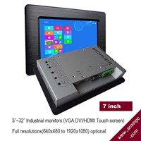 Industrial 7 Inch LCD Monitor with Touch Screen VGA