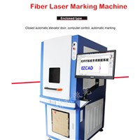 Enclosed Type20W30W Fiber Laser Marking Machine MOPA Black Marking