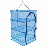 Double Zipper Design Fish Hang Dry Net, Fish Drying Net