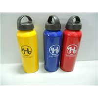 High Quality Export 500ml Aluminum Water Bottle with Handle Cap