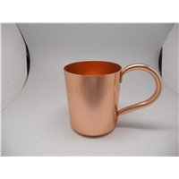 450 Ml 500ml Aluminum Drinking Mug Cup with Golden Plating Unbreakable Coffee Beer Milk Mug Cup with Handle