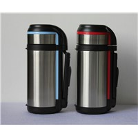 1.3L 1.6L 2L Stainless Steel Travel Thermos Flask Wide Mouth Vacuum Pot