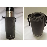 MINI Travel Hotel Gifts Stainless Steel Vacuum Bottle with Fleece Expansion Bag Packaging