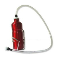 750ml Aluminum 1m Long Straw Bicycle Portable Drinking Sports Water Bottle