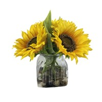 Real Touch Stunning Yellow Sunflower Arrangements