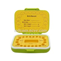 Baby Tooth Box Colorful PP & EVA Material for Teeth Can Fill in Baby Information Tooth Saver Boxes Green-PapayaEN02