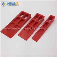 1sets= 3 Pieces Heidelberg Paper Wedges Red Paper Stopper for Roland Mitsubishi Komori KBA Printing Machine