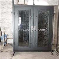 Wrought Iron Entry Door EBD085, Iron Entry Door, Wrought Iron Entrance Door, Customize Iron Doors, OEM Entry Doors, Doors