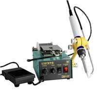 CXG802 Hot Air Soldering Desoldering SMD Rework Station 1, the Design of Soldering Station with Vacuum Dimension Is Sma