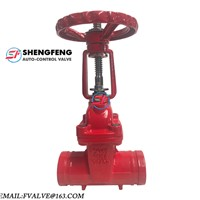 Cast Iron Rising Stem Resilient Seated Grooved End Gate Valve