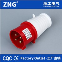 4 Pin 380v 16a Industrial Plug, Three Phases 16a4p Power Plug for Industrial Purposes