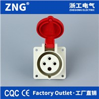 Wall-Mount Industrial Socket 16A4P, 380v Hidden Industrial Socket 16A 3P+PE