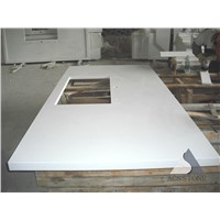 Swiss White Quartz Island Top Kitchentop
