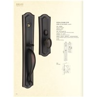 Solid Brass Mortise Entry Door Handle Lock 2528