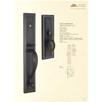 Solid Brass Mortise Entry Door Handle Lock 2530