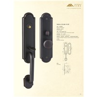 Solid Brass Mortise Entry Door Handle Lock (W06)
