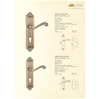 Solid Brass Mortise Door Handle Lock E28-26