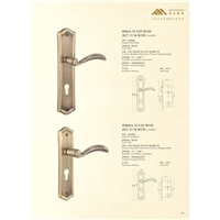 Solid Brass Mortise Door Handle Lock E06-25