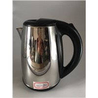 SXH-04 Dark Black Fast Heating Glossy Stainless Steel Electronic Kettle with Flashing Light 1.8L