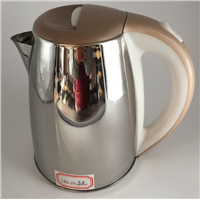 SXH-04 Light Brown Fast Heating Glossy Stainless Steel Electronic Kettle with Flashing Light 1.8L