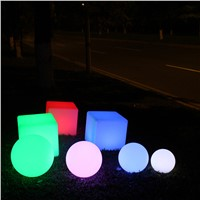 Multiple Function RGB LED Cube Garden Lamp/LED End Table/LED Chair