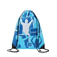 Drawstring Backpack with 190T Polyester, Cotton or 80g Non Woven Material. Light Weight, Custom Logo Printed