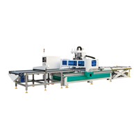 3 Axis Woodworking CNC Router & Engraver Machine Center with Automatic Loading & Unloading System
