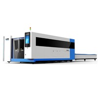 China High Power CNC Fiber Optic Laser Cutting Machine with Protective Cover