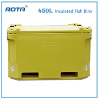 ROTA 450L Insulated Fish Tubs Rotational Molding Plastic Fish Ice Chest Food Storage Box