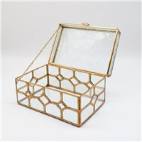 Glass & Brass Storage Box Made in Hand