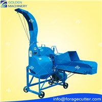Husbandry Large Capacity Tractor Diesel Motor Drive Fodder Chopper