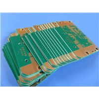 "4 Layer Printed Circuit Board Built on 0.01""(0.254mm) RO4350B + FR4"