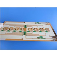Dual Sided Microwave PCB Made on 1.5mm RO4350B with Gold Finish