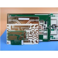 Double Sided RF PCB Built on 20 Mil(0.508mm) RO4350B with Immersion Gold