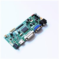 LCD Driver Board with HDMI DVI AUDIO VGA Input Interface Support Resolution 1366X768 LCD TFT Panel Easy DIY