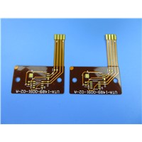 Single Sided Flexible Printed Circuit (FPC) Built on Polyimide with Immersion Gold
