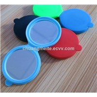 New Style Round Shaped Eco-Friendly Beauty Makeup Silicone Pocket Mirror