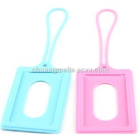Food Grade New Style Silicone Card Cover Business Card Holder Luggage Tags Promotional Gifts